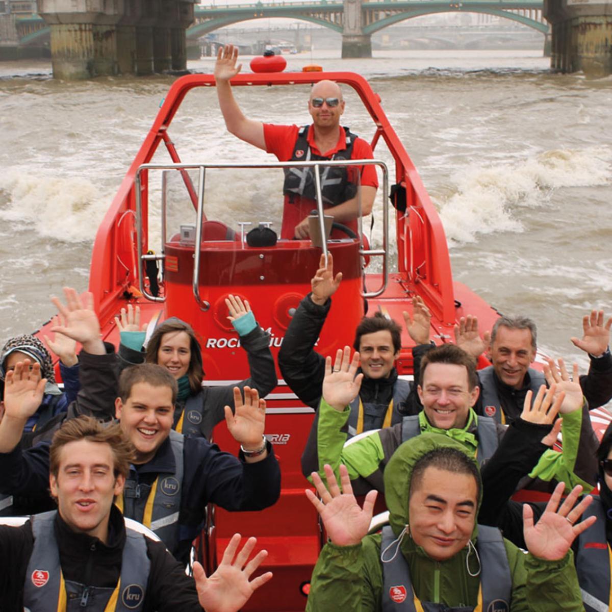 Speedboat in London