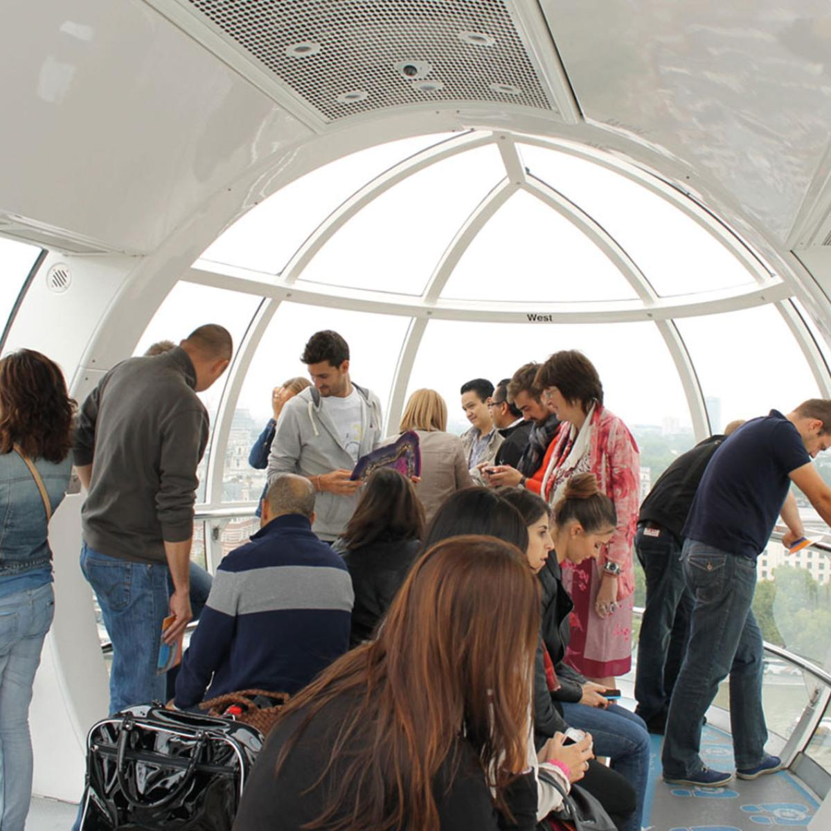 Group at London Eye